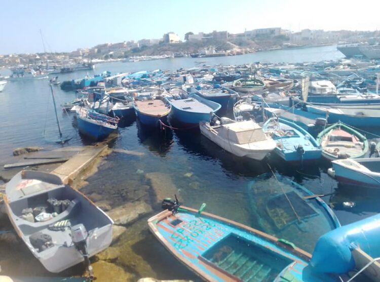 Barche a Lampedusa